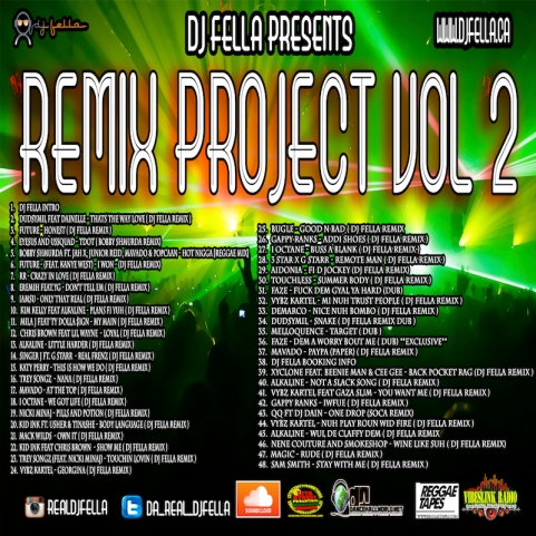 DJ FELLA REMIX PROJECT VOL 2 BACK