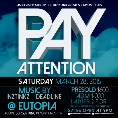 Pay Attention March 28 2015 Flyer (Front)