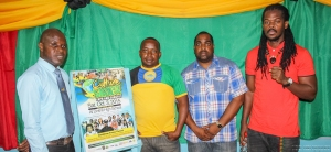 David Reid (Eastern Regional Manager JCDC), Peter Simpson and Steve Billings (Suncity Radio), and D'Medz