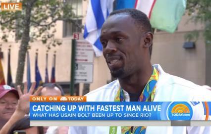 Usain Bolt, Today Show, Rio 2016, Jamaica, 13thStreetPromotions, Bolt, Usain, Puma