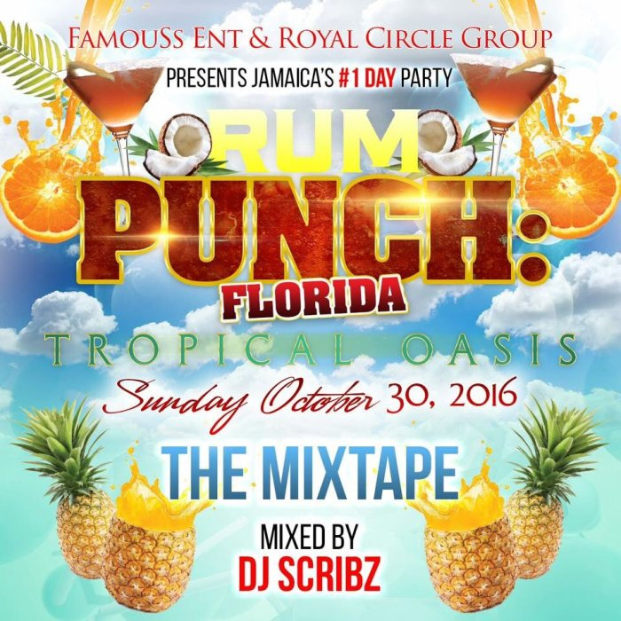 Rum Punch, Rum Punch Florida, Jamaica, Florida, 13thStreetPromotions, DJ Scribz, The Scribz