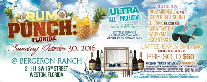 Rum Punch, Rum Punch Florida, Jamaica, Florida, 13thStreetPromotions, DJ Scribz, The Scribz