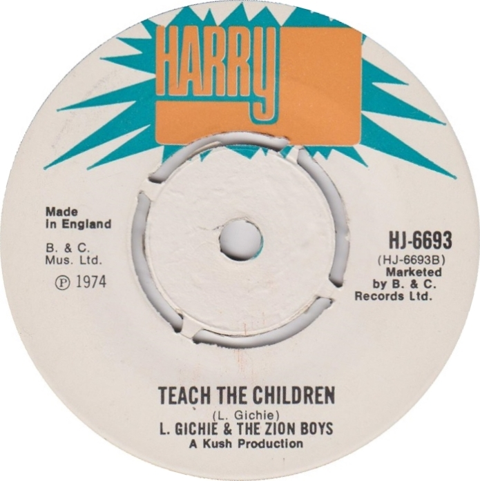 Jamaica, UK, Music, Reggae, Blog, 13thStreetPromotions, 13thStreetPromo, Locksley Gichie, The Zion Boys, The Cimarons, Teach The Children, Oldies Sunday, Child's Month, Child, Children, Kush, Harry J, Harry J Records, Caribbean, Old School, 1974, Oldies,