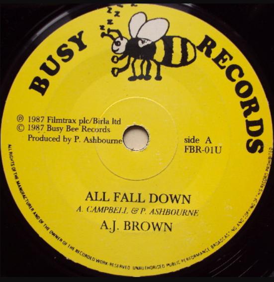 Jamaica, Music, Reggae, Pop Music, Blog, 13thStreetPromotions, 13thStreetPromo, A.J. Brown, A.J. Boots Brown, All Fall Down, Busy Bee Records, Third World, Rhyme or Reason, Caribbean, Singer, Oldies, Old School, 1987, Oldies Sunday, AJ Brown, Funk, Soul,
