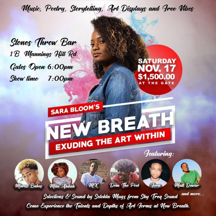 Jamaica, Music, Art, Poerty, Event, Blog, 13thStreetPromotions, Sara Bloom, New Breath, Sara Bloom's New Breath, Kingston, Stones Throw Bar, Caribbean, Youth, Highlights, XSvmSingX, SvmSing Photography, Entertainment, Live Show