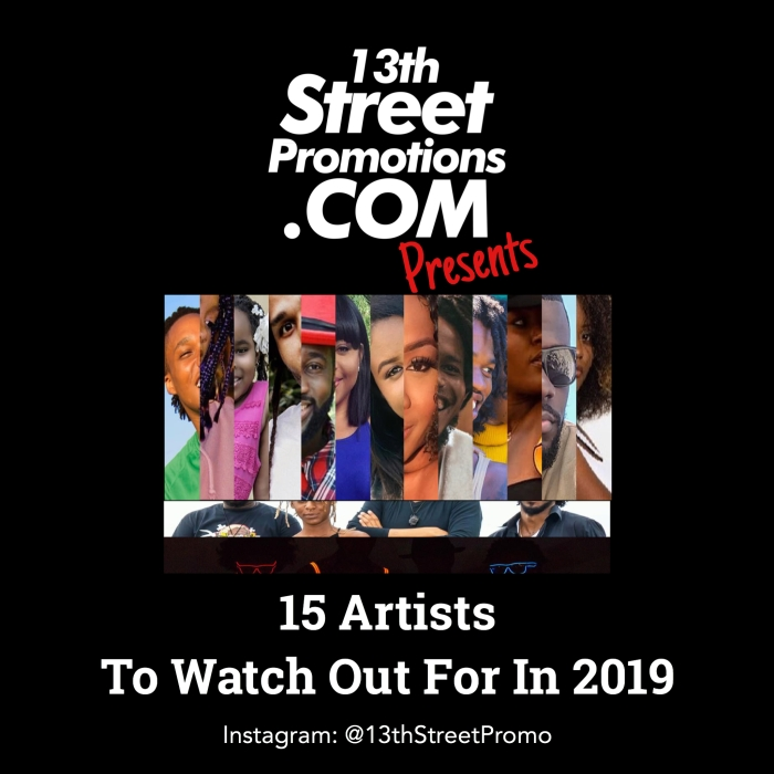 Jamaica, Dancehall, Reggae, EDM, Pop Music, Blues Rock, Electronic Music, Music, Blog, 13thStreetPromotions, 13thStreetPromo, 15 Artists to watch out for in 2019, 2019, Caribbean, List, Artists,