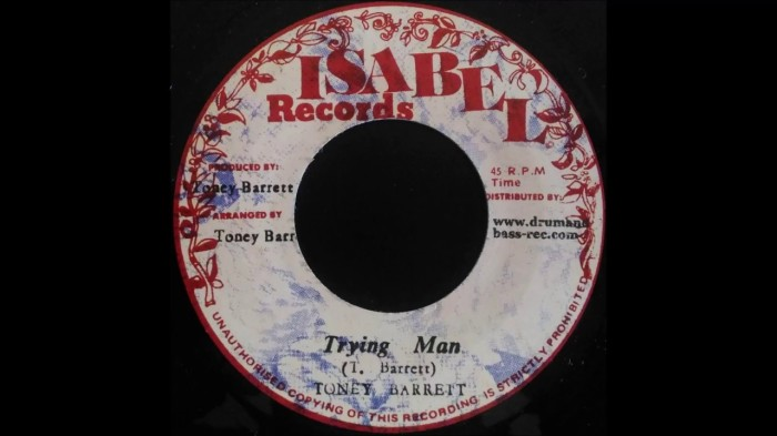 Toney Barrett Trying Man Reggae Music Blog 13thStreetPromo 13thStreetPromotions Caribbean 1978 Isabel Records Old School Oldies Sunday Oldies