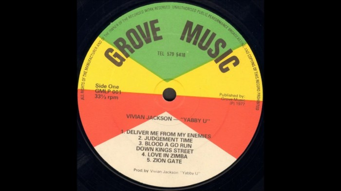Yabby You a.k.a. Vivian Jackson - Deliver Me From My Enemies (1977) on 13thStreetPromotions.com